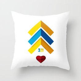 Down Syndrome The Lucky Few 321 Throw Pillow