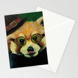 Steampunk Red Panda Stationery Cards
