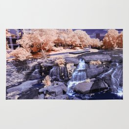 Falls Park on the Reedy in Infrared Rug