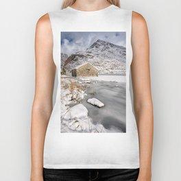 Frozen Lake Snowdonia Biker Tank