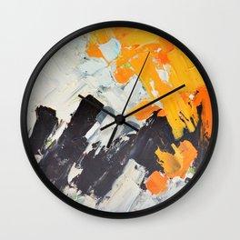 December Lights Wall Clock