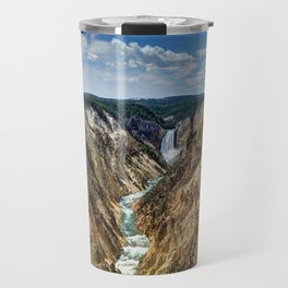Grand Canyon of Yellowstone River and Lower Falls from Artist Point Travel Mug
