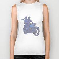 motorbike Biker Tanks featuring Motorbike  by marcusmelton