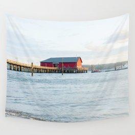Coupeville Pier Sunrise Wall Tapestry