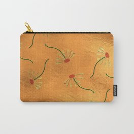 Gold Leaf Daisies Carry-All Pouch