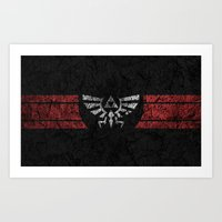 triforce Art Prints featuring TRIFORCE by Stagg Designs