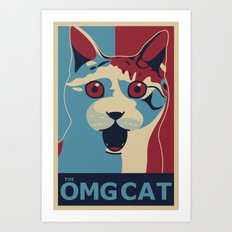 ✩ The OMG Cat Poster Art Print