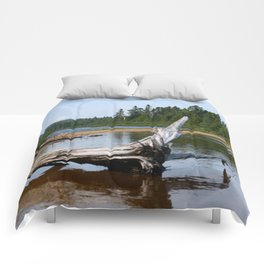 Peacefull Lake in Canada Comforters