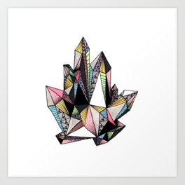Diamond Crystal Art Print