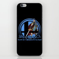super smash bros iPhone & iPod Skins featuring Marth - Super Smash Bros. by Donkey Inferno