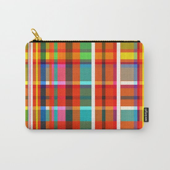 Madras Bright Check Carry-All Pouch