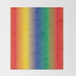 Colourful Rainbow Shades Follow the Rainbow Throw Blanket