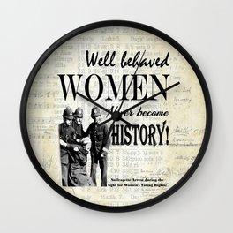 Women Misbehaving! Wall Clock