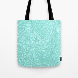 Ocean depth map - turquoise Tote Bag