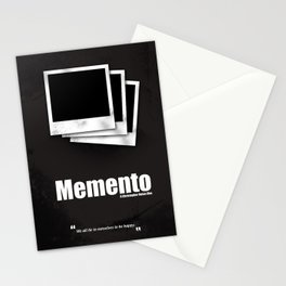 Memento. Minimal Movie Poster - A Christopher Nolan Film. Stationery Cards