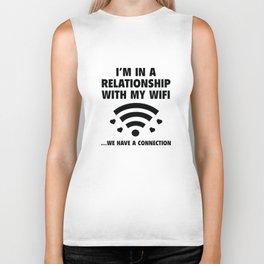 I'm In A Relationship Biker Tank
