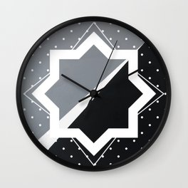 London - star graphic Wall Clock