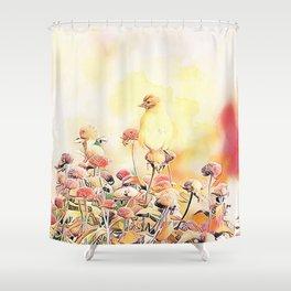 Little Gold Finch Shower Curtain
