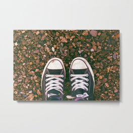 Shoes at the Beach Metal Print