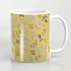 Ditsy flowers in Mustard Mug