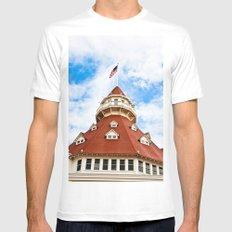 Haunted Coronado Tower White MEDIUM Mens Fitted Tee