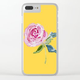 Watercolor Rose Clear iPhone Case
