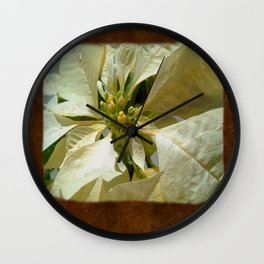 Pale Yellow Poinsettia 1 Blank P3F0 Wall Clock