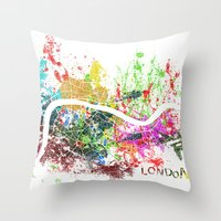 london Throw Pillows featuring London by Nicksman
