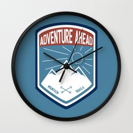Adventure Ahead - Color Wall Clock