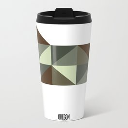 Geometric Oregon Metal Travel Mug