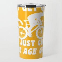 Funny Triathlon Saying For Triathletes Travel Mug