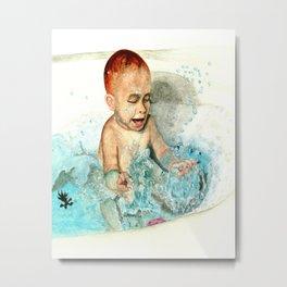 A CHILD AT PLAY Metal Print