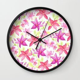 Clematis flower Wall Clock