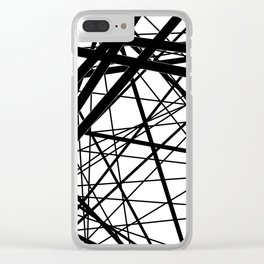 Abstract black and white . Line 2 . Clear iPhone Case