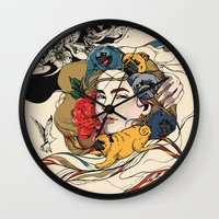 baby Wall Clocks featuring Let My Baby Stay by Huebucket