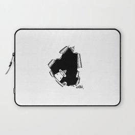 """Optical illusion """"Hole with monsters"""" Laptop Sleeve"""