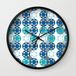 Star of David in Gold and Silver Wall Clock