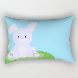 Bunny in country Rectangular Pillow