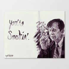 You're Smokin' // The X-Files Canvas Print