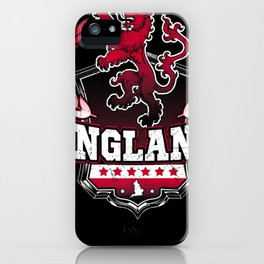 England Shirt Uk British Brit Pride London Lion Dad iPhone Case