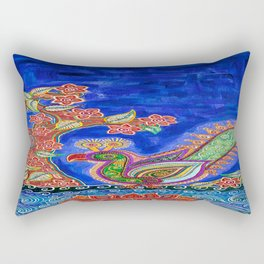 The One Under The Blue Shade Rectangular Pillow