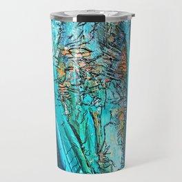 Doodle in blue Travel Mug