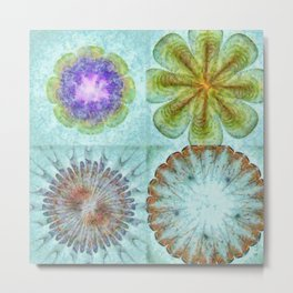 Attitudinal Proportion Flower  ID:16165-113431-66510 Metal Print