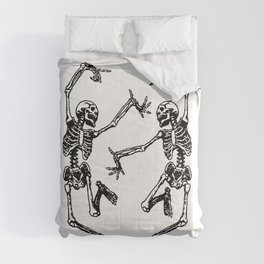 Duo Dancing Skeleton Comforters