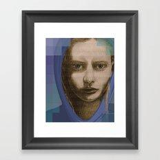 Real girl, digital world Framed Art Print