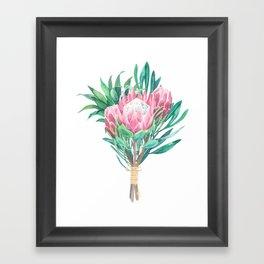 protea bouquet Framed Art Print