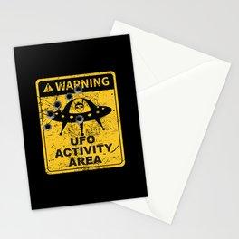Warning, UFO activity area Stationery Cards