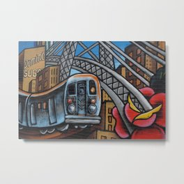 Subway Train Urban Street Art Graffiti Metal Print