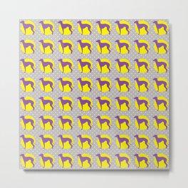 Italian Greyhound - Pattern One Metal Print