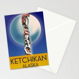 Ketchikan Alaska travel poster Stationery Cards
